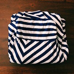 Soft Basic Striped Maxi Skirt